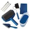 Kit  Trafalet Paint Roller Profesional cu umplere + rezervor recipient,brat extensibil, 2x accesorii pentru Colturi ,albastru