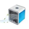 Mini Racitor aer portabil, ARCTIC AIR COOLER DK-7048, 3 functii (racire, umidificare, purificare aer), lumina LED 7 culori, Alimentare USB, Alb