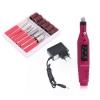 Pila profesionala unghii, freza unghii pentru manichiura si pedichiura, 20.000 rpm, electrica, roz