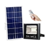 Proiector LED exterior 25W alb rece cu panou solar JD-8825 si Lampa Led cu Senzor de Prezenta