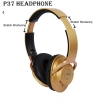 Casti P37 Bluetooth 4.2, Wireless, microfon incorporat, Active Noise Cancellation, USB C