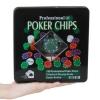 Set Poker Professional,Texas Hold'em, 100 jetoane, 5 culori, 2 seturi carti de joc